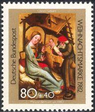 Germania 1982 Natale/Saluti/Natività/arte/Intaglio/ASINO/BOVINI 1 V (g10104)