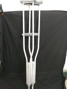 Medline Aluminum Push-Button Crutches Adult New No package