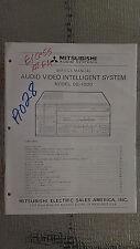 Mitsubishi de-1000 service manual original repair book stereo tuner radio av