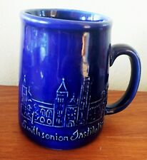 Smithsonian Institution Colbalt Blue Coffee Mug Bennington Potters Vermont