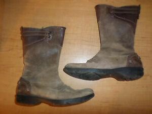 Merrell Vera Mid Barnwood Boots Women's Size 7.5 Brown Leather Mid Calf J68774
