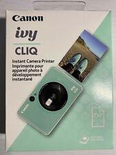 *New Sealed* Canon IVY Cliq Instant Film Camera & Portable Printer Mint Green