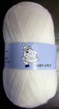 Woolyhippo 4ply Wool BABY Yarn Super Soft Acrylic Nylon Knitting 100g Crochet