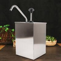 1 Bucket Sauce Dispenser Pump Squeeze Condiment Dispensing Steel US New