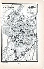57 Metz 1905 pt. plan ville, carte orig. + guide (2 p.) champ de bataille 1871