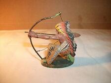 Elastolin / Masse - Indianer mit Bogen kniend - 7 cm
