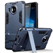 Slim Shock Resistant Armour Stand Case for Microsoft Lumia 950 XL - Dark Blue