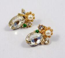 Plated Handmade Earring Jewelry Mjc7679 Mystic Topaz Quartz & Pearl Gold