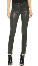 $998 J Brand 27x29 Dark Grey Lamb Leather Pants Legging Skinny 28 Maria L8001