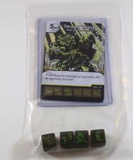 DC Dice Masters Justice League SWAMP THING Set RARE UNCOMMON COMMON CUR + 4 DICE