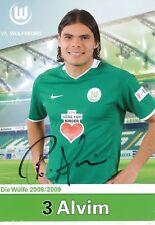 Rodrigo Alvim   VFL Wolfsburg  Fußball  Autogrammkarte  signiert 354182