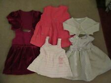 Baby Girls clothes bundle 4 dresses (2 with matching shawls) - All 9-12 Months