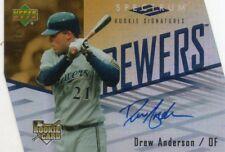 DREW ANDERSON 2007 UPPER DECK SPECTRUM ROOKIE SIGNATURES DIE-CUT AUTO CARD 31/50