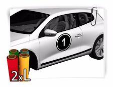 2x XL Startnummer Auto Autoaufkleber Motorrad Sport Aufkleber Sticker Rennnummer