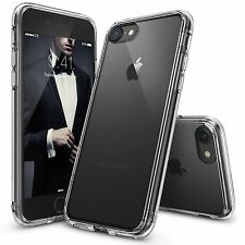 NUOVO iPhone 7 CUSTODIA TRASPARENTE CRYSTAL CLEAR CASE IN GEL TPU MORBIDA PELLE + Vetro