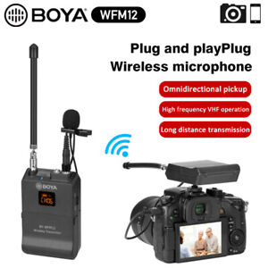 BOYA BY-WFM12 UHF Wireless Microphone System for Smartphones DSLR Camera Video