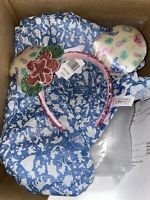Disney Parks Aulani Hawaii Stitch Angel Sequin Floral Headband Ears NWT
