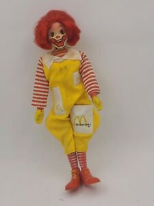 """Vintage 1976 Remco Ronald McDonald 7 1/2"""" Action Figure Doll Movable"""
