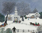 Grandma Moses We Are Coming To Church Canvas Print 16 x 20   # 6147