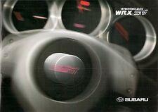 Subaru Impreza 2.0 WRX STi 2003-04 UK Market Sales Brochure