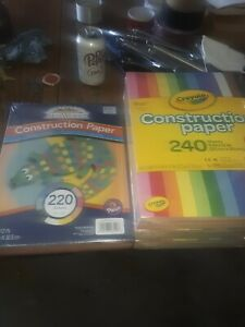 LOT OF 4 PACKAGES OF CONSTRUCTION PAPER--ALL NEW--3 ARE CRAYOLA AND 1 IS PACON