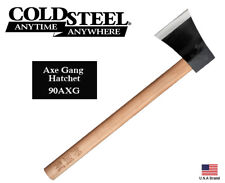 Cold Steel Axe Gang Hatchet Drop Forged 1055 Carbon Hickory Wood Handle 90AXG