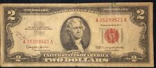 Rare Two Dollar Bill Red Seal Note 1963 - $2 United States - Free Shipping