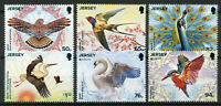 Jersey 2019 MNH National Birds Europa Kingfishers Swans Stork 6v Set Bird Stamps