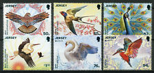 Jersey 2019 MNH National Birds Europa Kingfishers Swans Stork 6v Set Bird Stamps