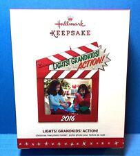 "Hallmark ""Lights ! Grandkids ! Action ! "" Photo Holder  Ornament 2016"