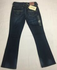 Lucky Brand Women's Size 2/26 Mid Rise Curvy Fit Lola Bootleg Dark Blue Wash NEW