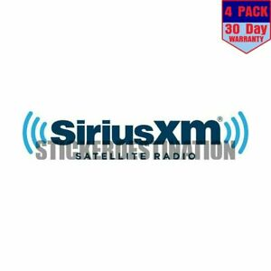Sirius Xm 4 pack 4x4 Inch Sticker Decal