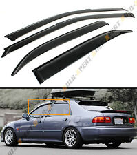 FOR 92-95 HONDA CIVIC 4 DR SEDAN EG EH JDM SMOKE TINTED WINDOW VISOR RAIN GUARD