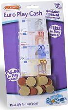 Casdon PLAY MONEY EUROS € Toy Cash Notes/Coins Bank/Shop Toddler/Child  BN