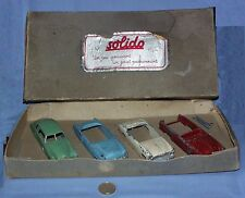 "COFFRET SOLIDO JUNIOR DEMONTABLE : STUDEBAKER + SIMCA + FORD (2x) ""dans son jus"""