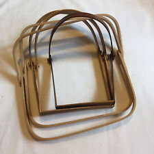 Lot of 5 Basket Weaving Swing D Handles - Square & Curved, Light & Dark Wood
