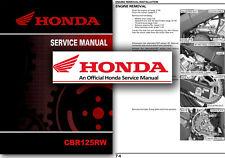 Honda CBR125R Service Manual CBR125 Workshop Repair Shop 2007 2008 2009 2010