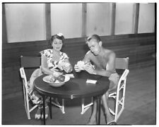 Alan Ladd barechested wife Sue Carol Vintage Original 5x4 Photo Camera Negative