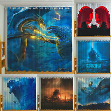 Godzilla: King of the Monsters Blackout Curtain Bedroom Window Drapes 2 Panel
