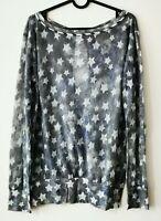 MARC CAIN Shirt Sterne Tunika Ballonshirt Bluse Gr. 4 / 40 42  ##LRZ1199