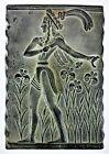 Egyptian Etruscan Greek Fertility God Goddess Wall Plaque Relief Clay Ceramic
