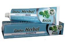 Dabur Hierbas Albahaca Pasta De Dientes Sin Fluoruro agregado dientes Refrescar Aliento 100ml Tubo