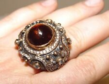 Super Sized Silver & Amber Quartz Ring Gorgeous