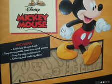 IncrediBuilds Disney's Mickey Mouse 3D Wood Model & Booklet New!