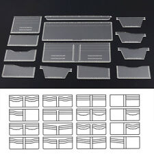 13Pcs Clear Wallet Pattern Stencil Template Purse Leather Craft Tools Supply