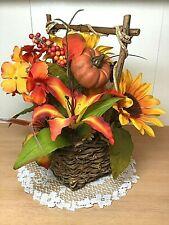 Artificial Silk Flower Arrangement Sunflowers, Tiger Lillie's and Hydrangea
