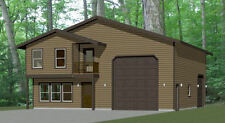 40x42 House -- 3 BR 2.5 Ba 1-RV Garage - PDF Floor Plan - 1,619 sqft - Model 2E