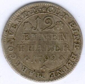Altdeutschland 1/12 Taler 1792 - Eine Feine Marck siehe Bild/er