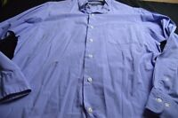 Ralph Laruen Blue White Grid 16 34/35 Cotton Long Sleeve Button Men's Shirt