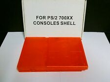 NEW Clear Orange Full Shell Housing Case Cover for PS2 Slim 70000 7000 Series